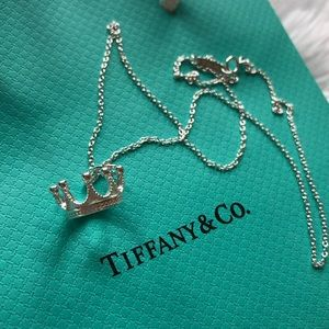 Tiffany and Co Crown Charm and Chain